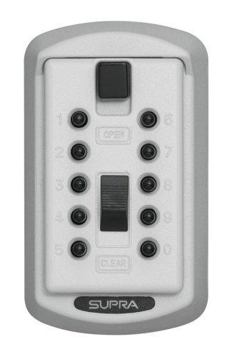 (Kidde AccessPoint 001413 KeySafe Original Slimline Push Button Combination Permanent Key Lock Box, 2-Key, White by)