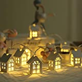 ZBmiluddeer House Style String Lights, 6.6feet 10 LED Warm White Fairy Light for Indoor,Bedroom,Curtain,Patio,Lawn,Landscape,Fairy Garden,Home,Wedding,Holiday,Christmas USB