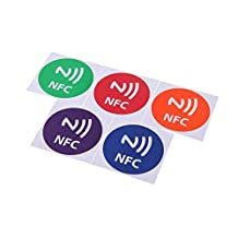SODIAL(R) 5pcs Cute 888bytes Smart NFC Tags Stickers for Samsung Galaxy S5 S4 Note 3 Note 4 Sony Xperia Nexus 5 NXP NTAG216 All NFC Smartphones Speaker Pattern