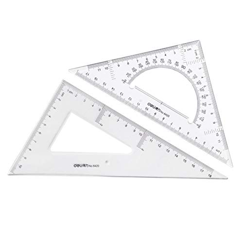 (Large Triangle Ruler Square Set,Triangle Protractor,2 pieces)