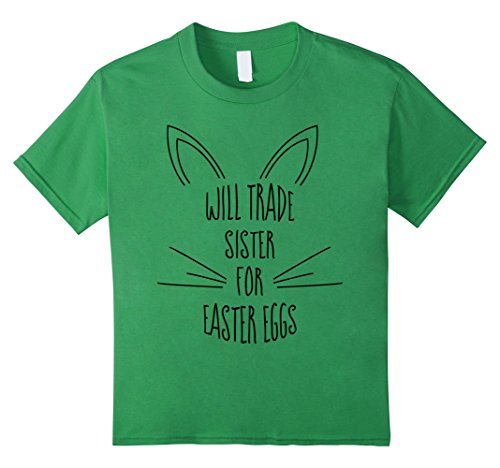 Bunny Costume Day Green (Kids Will Trade Sister for Easter Eggs - Bunny Costume T-Shirt 4)