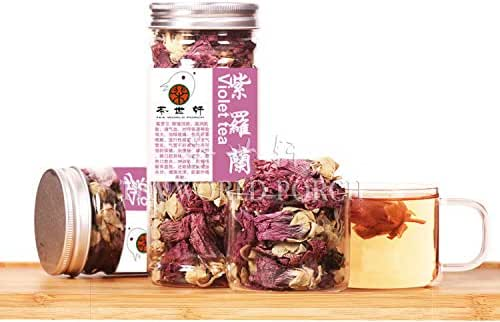 Violet Tea 35g Organic Dried Loose tea Anti Aging Blossom Flower tea Beauty chinese health skin care Whitening wrinkle removal