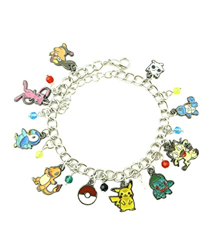 Athena Brand Anime Theme Pokemon Characters Charm Bracelet Quality Cosplay Jewelry Cartoon Manga Series with Gift Box -