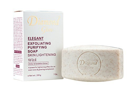 Diamond Glow Extensive Exfoliating Purifying Skin Lightening Soap with Amla & Dandelion Extract 7oz