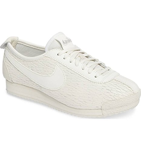 NIKE Women's Classic Cortez 72 Leather Sneaker Sail/Bone-White (Large Image)