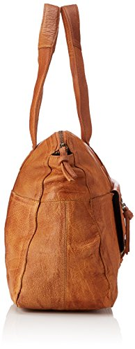Cognac Bag PIECES Noos da Leather polso Marrone Borsette Pcabby Donna Hawz7xq1E