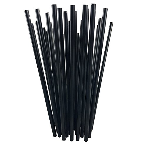 Price comparison product image 7.75 Inch Straight Drinking Straws (250 Straws) (7.75 Inch x 0.21 Inch) (Black)