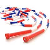 Cheap Segmented Skip Rope 9′ Red/White/Blue