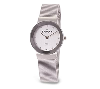 Skagen Women's 26mm Freja Stainless Steel-Mesh And Glitz Watch