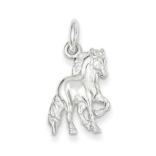 West Coast Jewelry Sterling Silver Horse Charm (Silver Horse Charm)