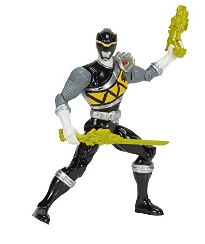 """Power Rangers Dino Super Charge Action Figure, 5"""", Black"""