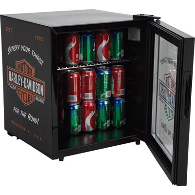 Davidson Table Harley - Harley-Davidson Nostalgic Bar & Shield Beverage Cooler, Black