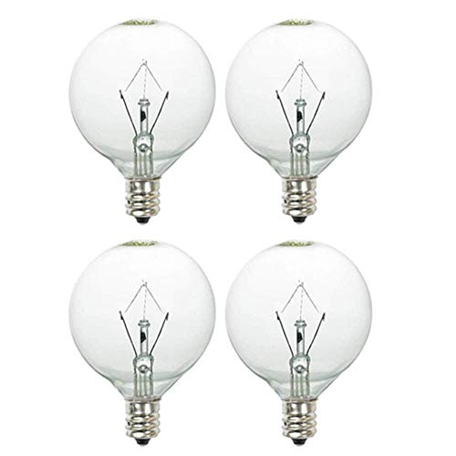 Light Bulbs 25 Watt for Scents Oil Wax Melts Warmer-4 Packs (25 Watt Halogen Bulb For Wax Warmer)