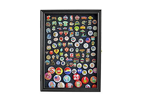(flag connections Display Case Wall Frame Cabinet for Military Medals, Pins, Patches, Insignia, Ribbons,)