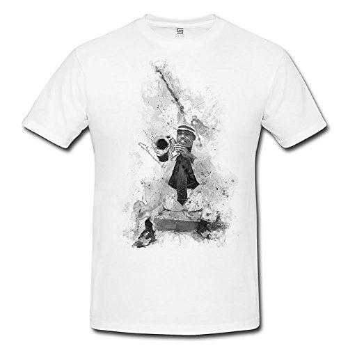 Jazz Player Cuba T-Shirt Herren, Men mit stylischen Motiv von Paul Sinus