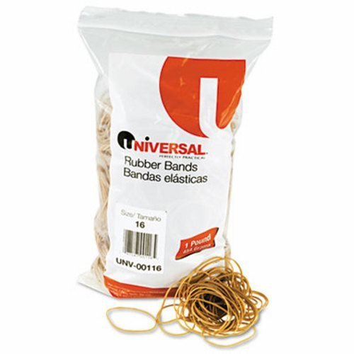 Universal Rubber Bands, Size 16, 1lb Pack -Sold as a 3 Pack