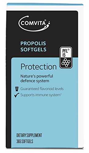 Comvita Propolis Natural Immune Support PFL 15 Softgels, 365 Count by Comvita