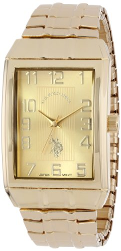 U.S. Polo Assn. Classic Men's USC80045 Classic Analogue Gold Dial Expansion - Rectangular Face Men
