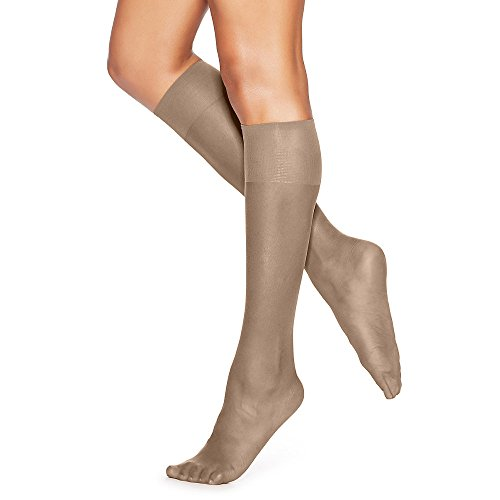 Silk Reflections Sheer Toe Knee Highs 2-Pack