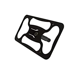 The Platypus mounts to the tow hook eye that is hidden on your bumper. Now you can install a front license plate onto your brand new car or aero kit with no drill required. This tow hook mounted plate is also easily removable for track days a...