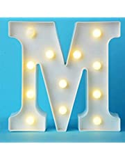Decorative LED Illuminated Letter Marquee Sign - Alphabet Marquee Letters with Lights For Wedding Birthday Party Christmas kids room Night Light Lamp Home Bar Decoration , M