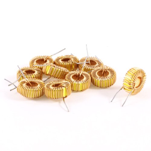 Uxcell a13071500ux0198 10 Piece Toroid Core Inductor Wire Wind Wound 47uH 38mOhm 3 Amp, - Power Inductor