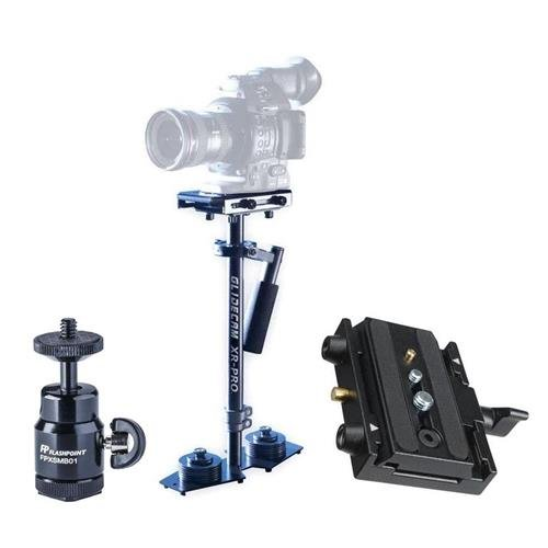 Glidecam XR-PRO Handheld Camera Stabilizer - Bundle With Manfrotto 577 Rapid Connect Adapter Assembly, Mini Ballhead with Cold Shoe