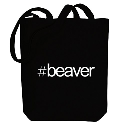 Beaver Idakoos Hashtag Tote Hashtag Idakoos Canvas Animals Bag HtxxOnT