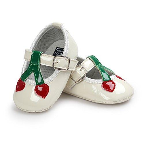 Pueri Rojo Zapatos de bebé Sandalias de los bebés Zapatos infantiles Diseño agradable Ligero y cómodo blanco