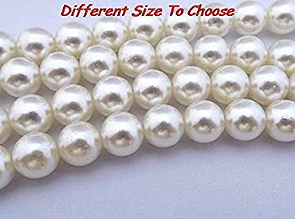 Calvas New Imitation white3mm 4mm 5mm 6mm 8mm 10mm 12mm 14mm 16mm 18mm 20mm ABS Round Pearl Beads Resin Spacer Bead Crystal shamballa Color: 16mm 30pcs