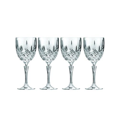 Marquis by Waterford Markham Goblet, Set of 4 (Waterford Crystal Iced Beverage Glass)