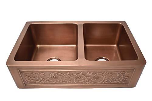 Empire Industries VE33D Versailles Kitchen Sink, 33 In. In, Copper