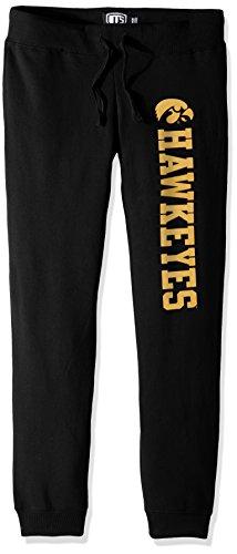 NCAA Iowa Hawkeyes Women's Ots Fleece Pants, X-Large, Jet Black