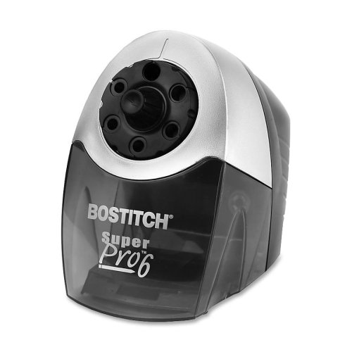 Wholesale CASE of 3 - Bostitch Industrial Electric Pencil Sharpener-Commercial Pencil Sharpener, 6 Ft. Cord, 5''x9''x7-1/2'', Gray