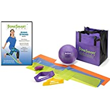 BoneSmart Pilates AGING STRONG DVD Vol I with Enhanced Props Bundle - Newly Released! - Exercise to Build Bone, Avoid Injury, Age Strong