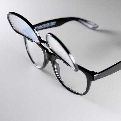 Black Diffraction Glasses PrismFlipz Nerd Rave Wayfarer Diffraction Lens - Sunglasses Nerds