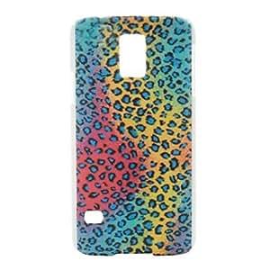 TY-Leopardo patrón de color de plástico caso duro para i9600 la galaxia de Samsung s5