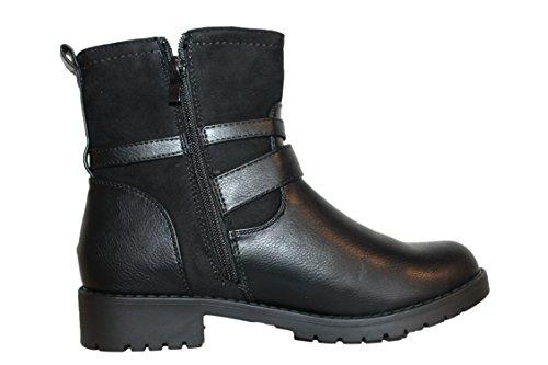 cm paris-bottines boots-noire-femme ou ados
