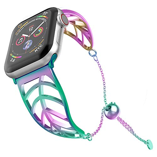 (UooMoo Bracelet Replacement for Apple Watch Band 38mm 40mm Multicolor Elegant Cuff Jewelry Strap Wristbands Compatible with Iwatch Series 1/2/3/4 - Unique Fancy Style for Women Girls)
