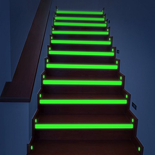 Glow In The Dark Green Tape E LIGHTING STAR Luminous Tape Home Decor Emergency Tape Removable Rechargeable 33