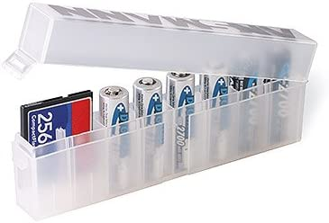 Ansmann Empty Plastic Storage Box F//8 AA OR AAA Batteries Keeps Them Clean and Keeps Them Together In Your Gadget Bag