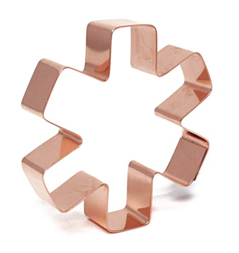 Small Star of Life Symbol Copper Cookie Cutter