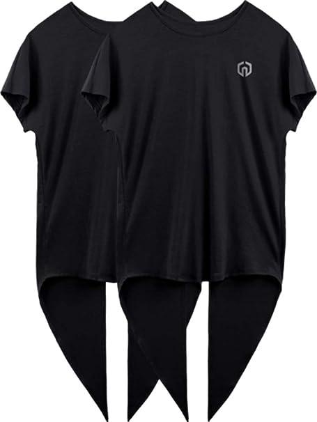 Neleus Womens Quick Dry Athletic Workout Shirt Yoga Top