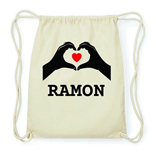 JOllify RAMON Hipster Turnbeutel Tasche Rucksack aus Baumwolle - Farbe: natur Design: Hände Herz NiJZwFbRm4