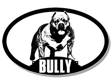 - GHaynes Distributing MAGNET Oval Dog Breed American BULLY Silhouette Magnet(pit bull love) 3 x 5 inch