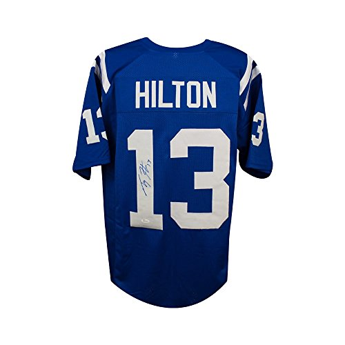 T.Y. Hilton Autographed Indianapolis Colts Custom Blue Football Jersey - JSA COA