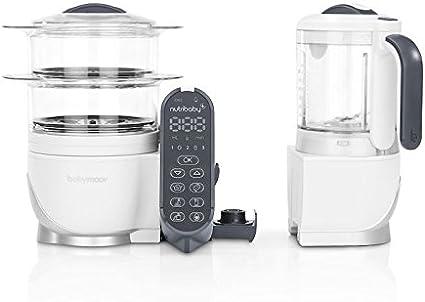 Babymoov Nutribaby+ A001117 - Procesador de alimentos para bebés, cocción al vapor y batidora color blanco: Amazon.es: Bebé