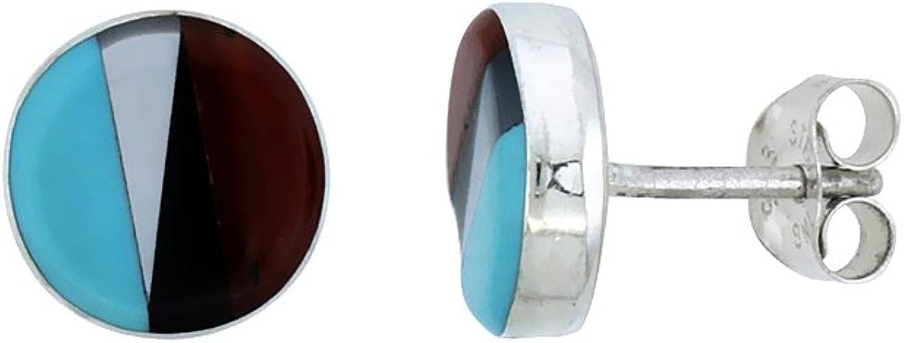 925 Silver Genuine Stone Dangle Earrings 3 Colors