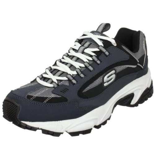 Skechers Sport Men's Stamina Nuovo Lace-Up Sneaker,Navy/Black,9.5 M US