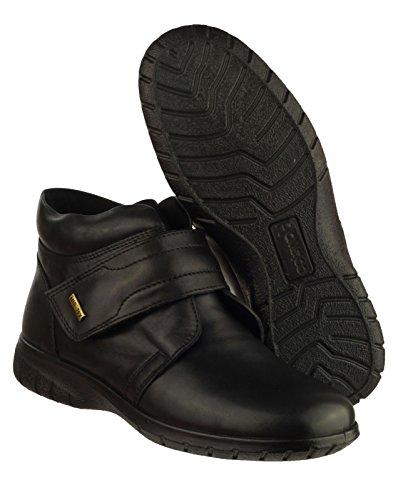 Imperméables Bottines Style Femme Velcro Chalford En Noir Cotswold Pour Cuir EUnYnRq